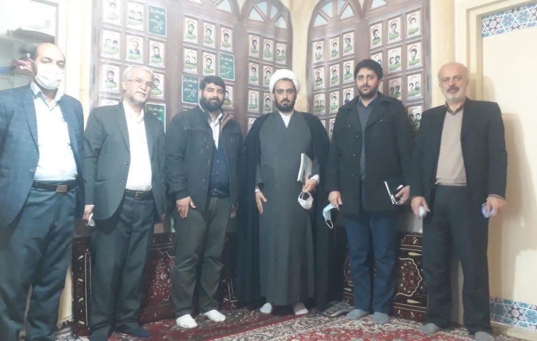 بازدیدحجت الاسلام جزینی رئیس کارگروه تربیت قرارگاه خاتم الاوصیاء کشورازحسینیه مکتب امام زمان عج